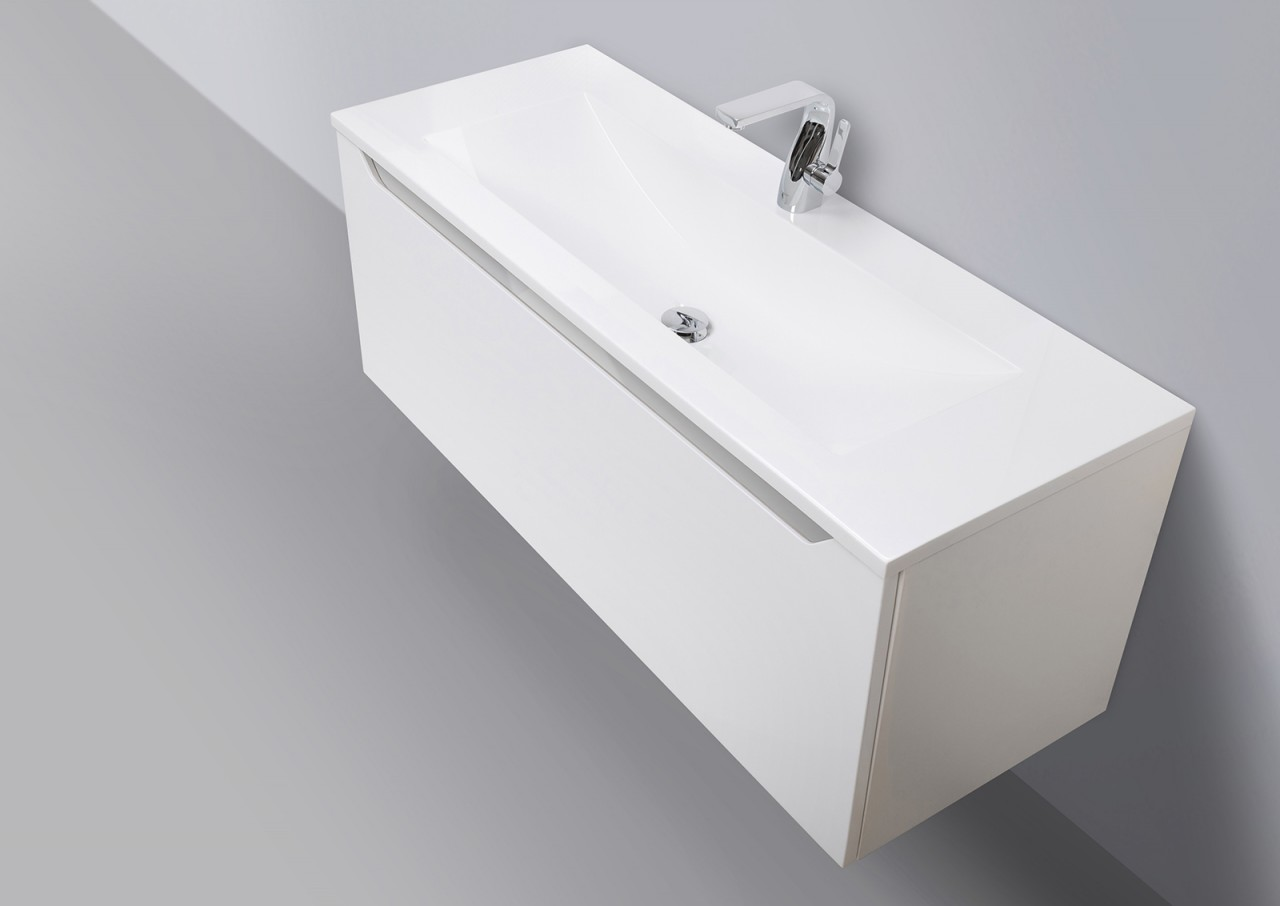 badm bel set grifflos 120 cm waschbecken unterschrank mit led lichtspiegel nu ebay. Black Bedroom Furniture Sets. Home Design Ideas