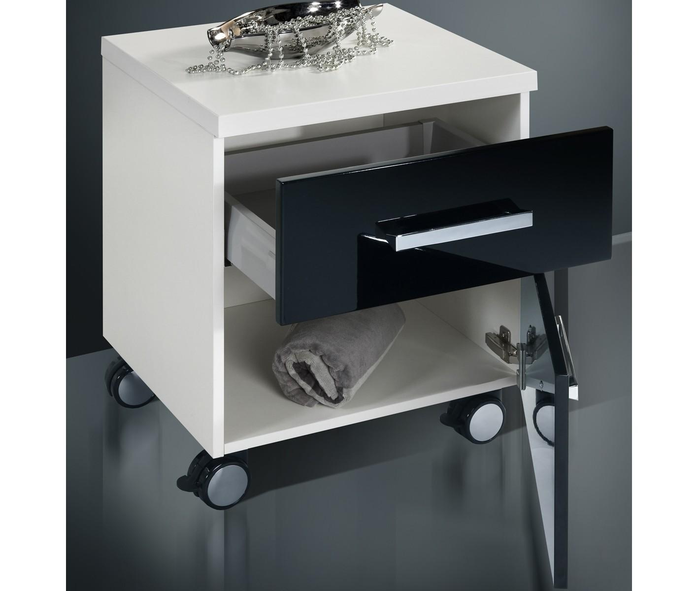 badm bel set mit lichtspiegel hochglanz lack 90 cm 472. Black Bedroom Furniture Sets. Home Design Ideas