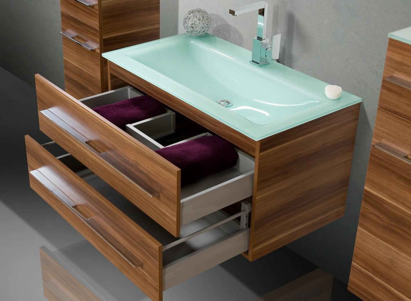 badm bel set mit glaswaschbecken 90 cm 384. Black Bedroom Furniture Sets. Home Design Ideas