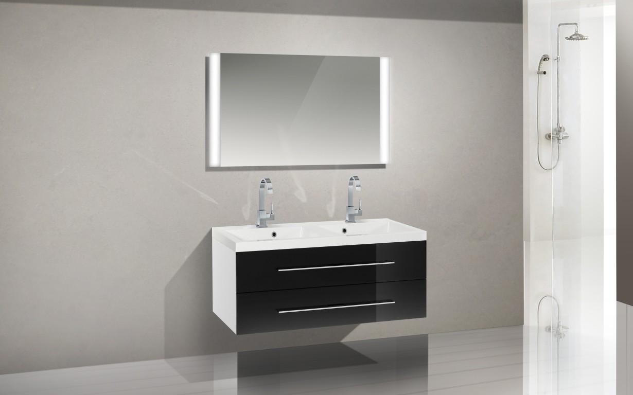 Design Badmöbel Set Waschbecken 120 Cm Doppelwaschtisch