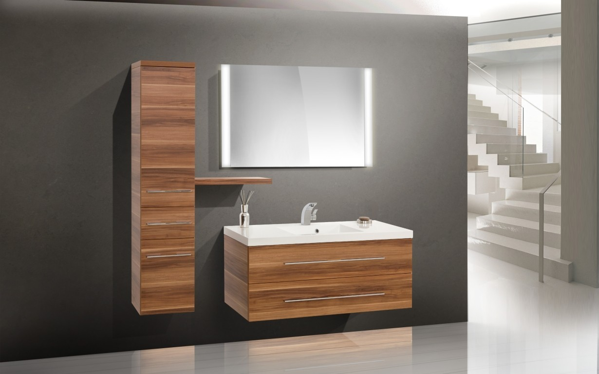 design badm bel setwaschbecken waschtisch 120 cm. Black Bedroom Furniture Sets. Home Design Ideas