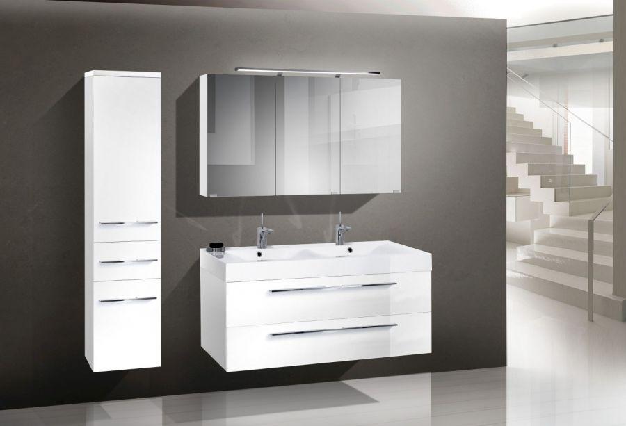 Badmöbel set mit spiegelschrankdeko fürs bad  Badezimmermöbel Doppelwaschbecken | gispatcher.com