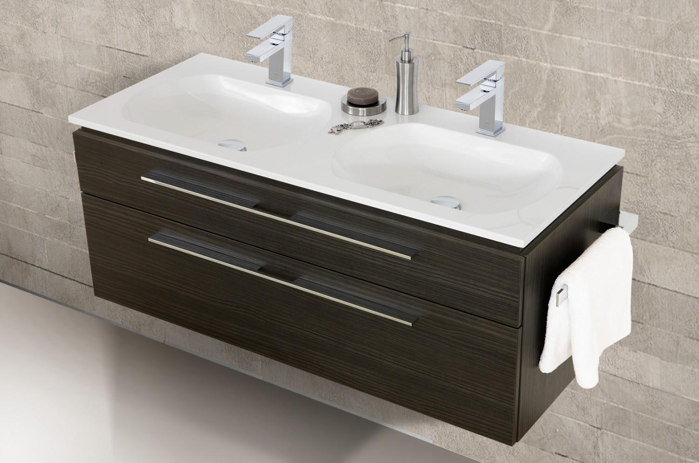 Spiegelschrank doppelwaschtisch 120 cm design badm bel set for Designer badmobel sale