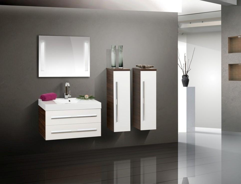 design badm bel set 90 cm waschtisch lichtspiegel. Black Bedroom Furniture Sets. Home Design Ideas