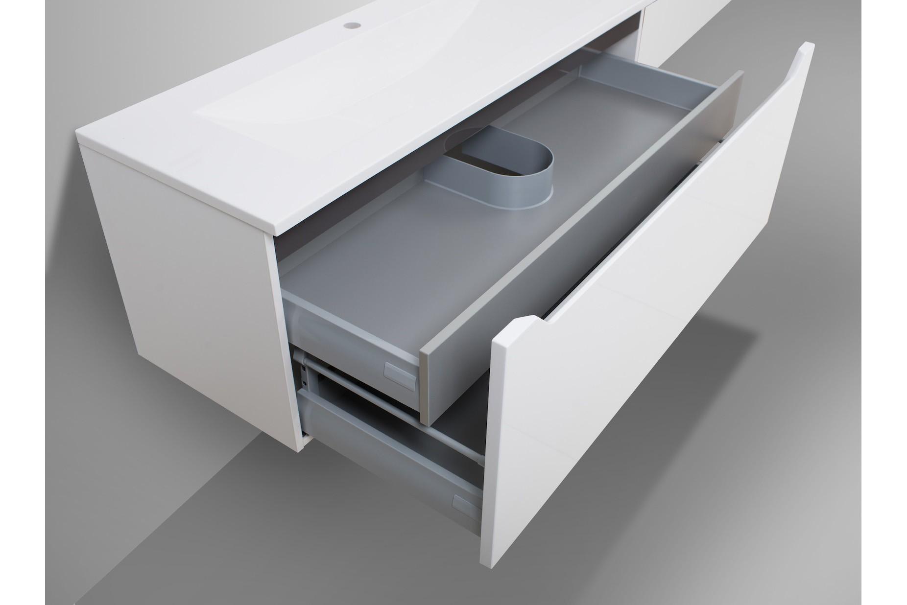 badm bel set mit 120 cm doppelwaschtisch schwarz. Black Bedroom Furniture Sets. Home Design Ideas