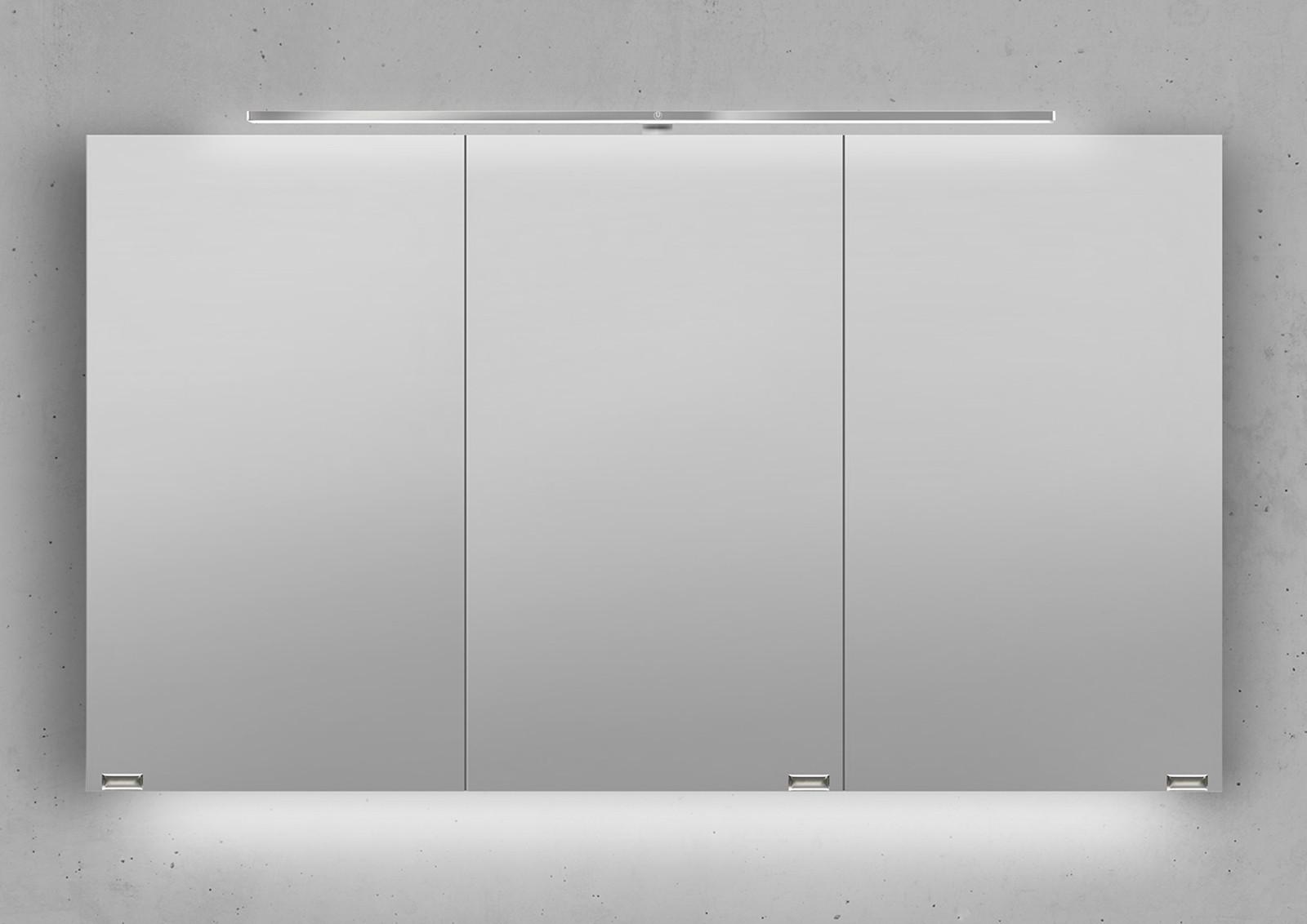 Spiegelschrank 120 cm led beleuchtung mit farbwechsel for Spiegelschrank 120