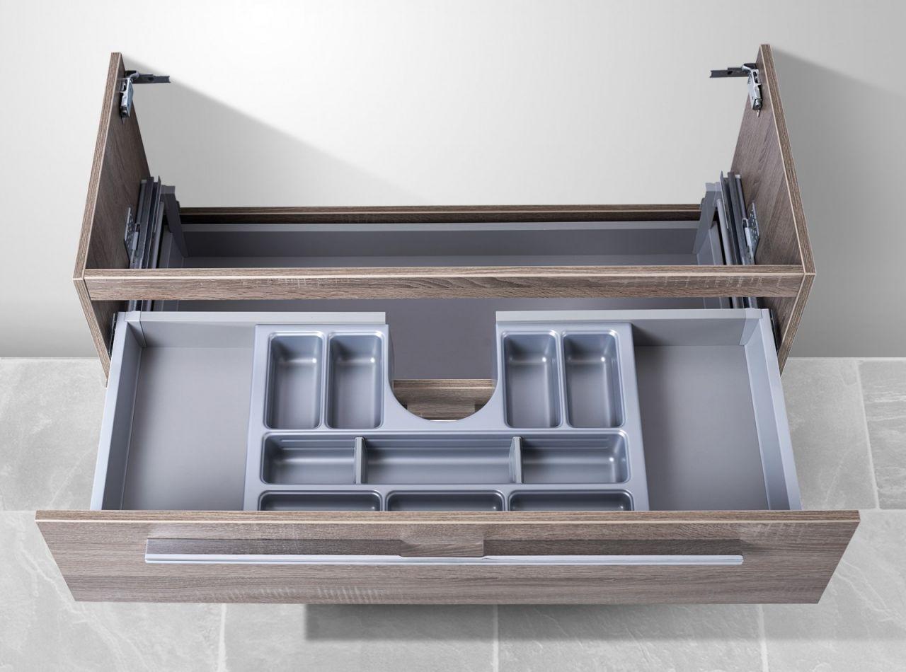 waschtisch unterschrank zu duravit vero 100 cm mit kosmetikeinsatz waschbeckenu ebay. Black Bedroom Furniture Sets. Home Design Ideas