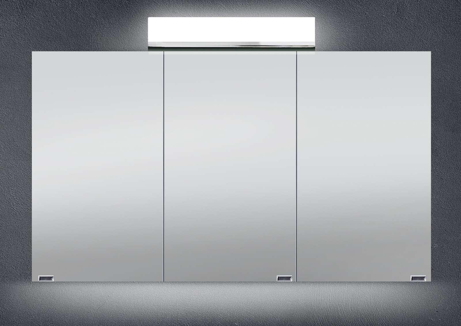 Ordentlich Spiegelschrank Bad 120 cm LED Beleuchtung doppelseitig verspiegelt  PP42
