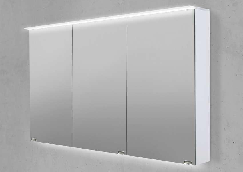 Spiegelschrank 120 cm LED Acryl Lichtplatte doppelseitig verspiegelt