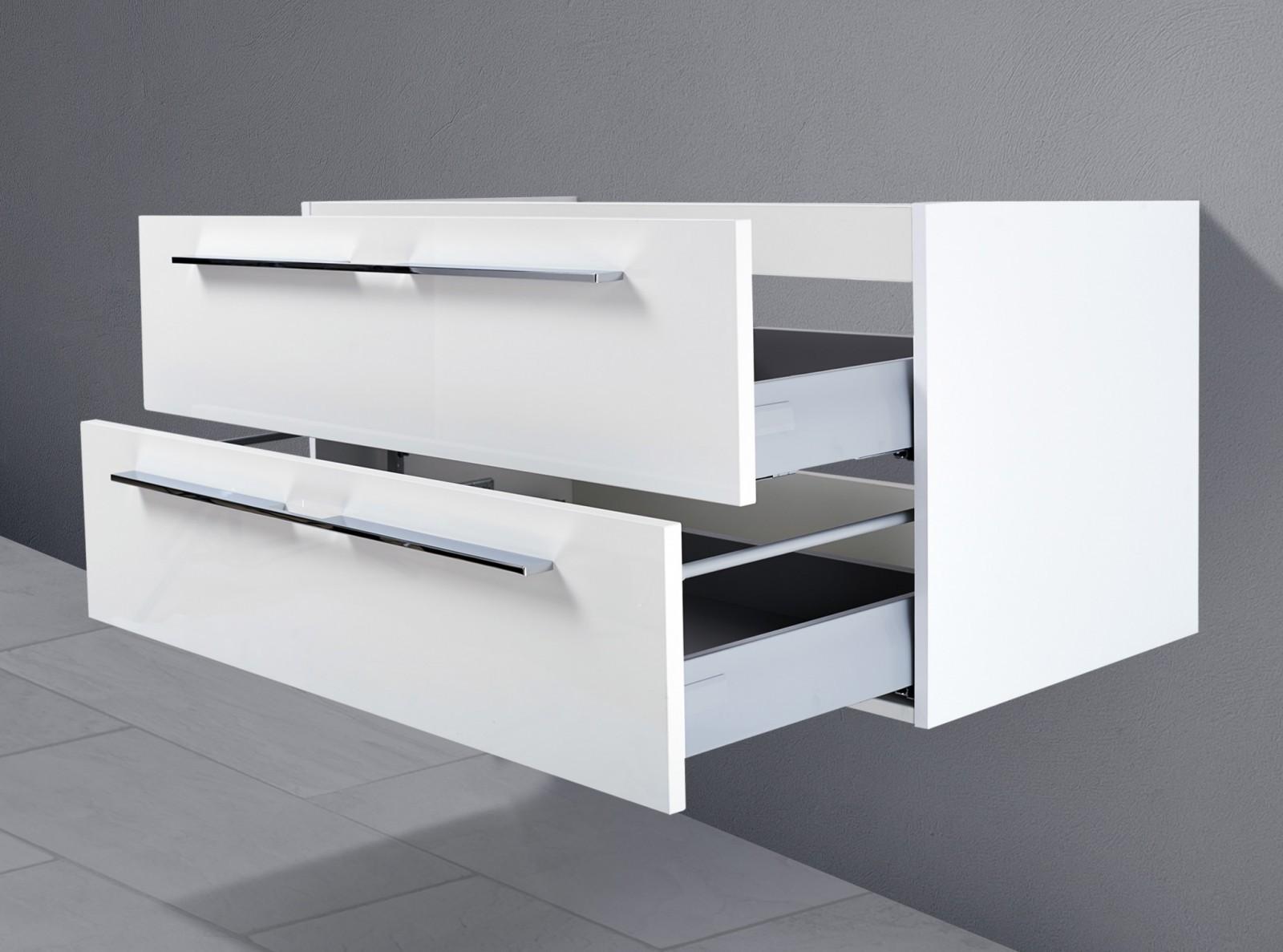unterschrank zu laufen living 100 cm ablagefl che rechts links waschbeckenunterschrank 5135. Black Bedroom Furniture Sets. Home Design Ideas