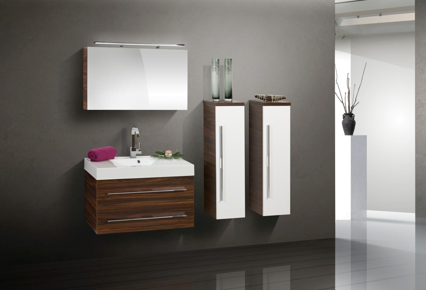 Design Badmöbel Set 90 cm Spiegelschrank | designbaeder.com