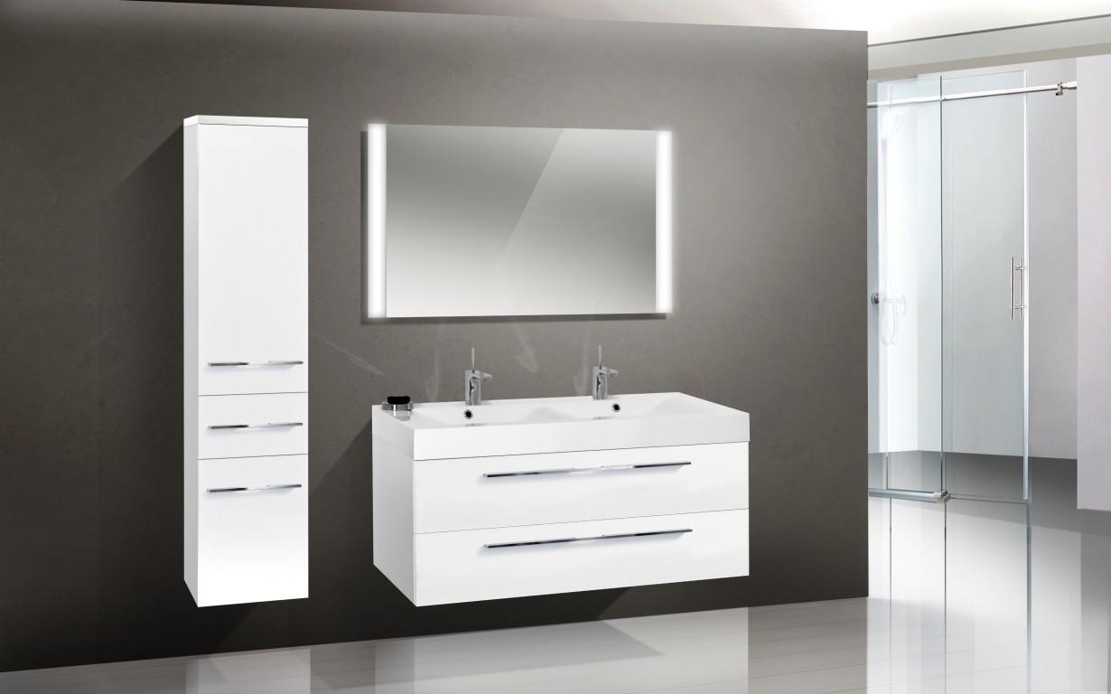 badezimmerm bel set mit lichtspiegel und waschtisch 120 cm 616. Black Bedroom Furniture Sets. Home Design Ideas