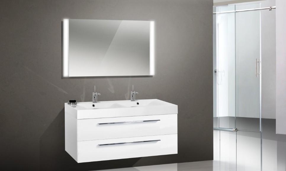 badm bel set mit doppelwaschtisch 120 cm 1302. Black Bedroom Furniture Sets. Home Design Ideas