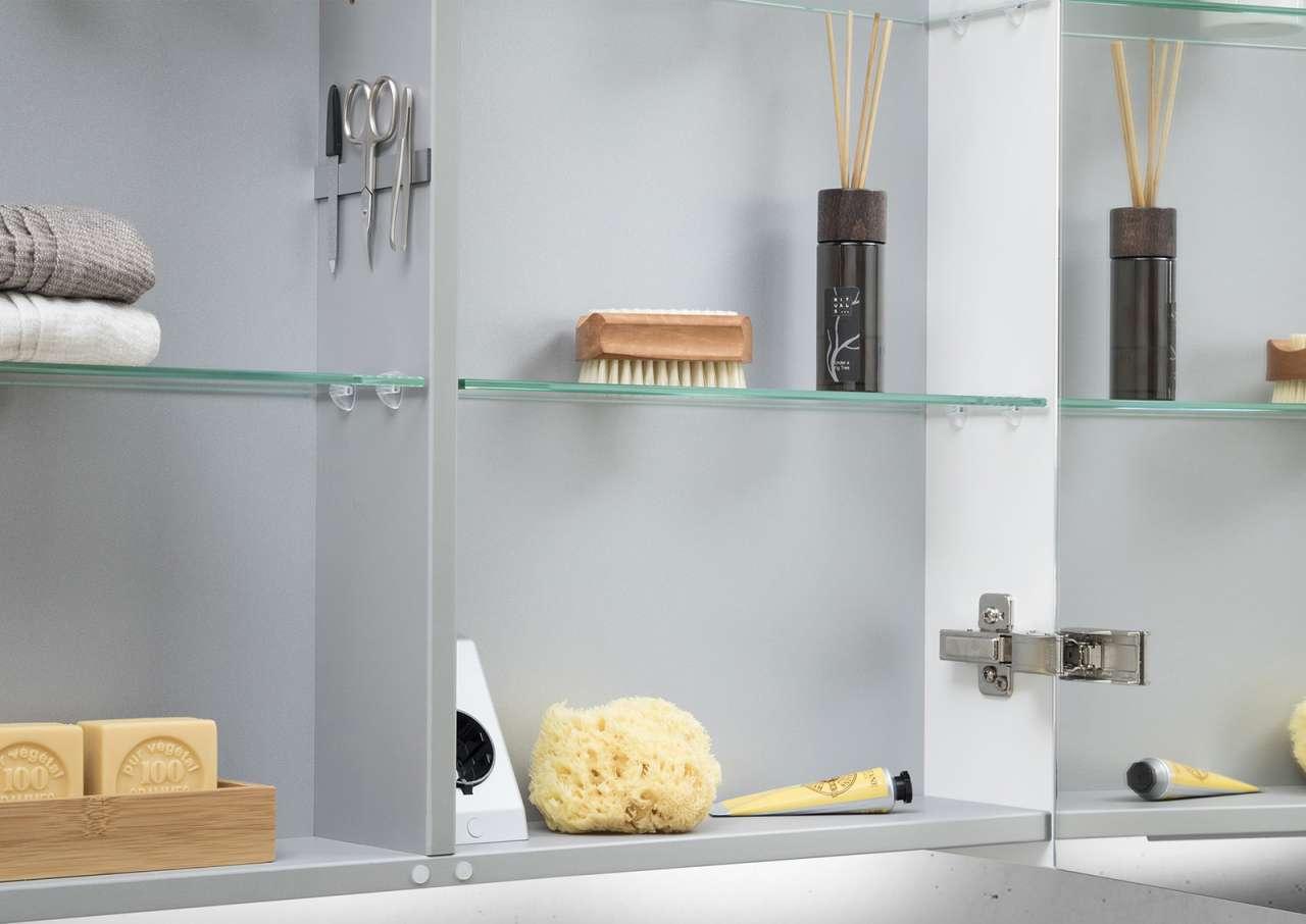 Spiegelschrank 100 cm led acryl lichtplatte doppelseitig for Spiegelschrank 50 cm hoch