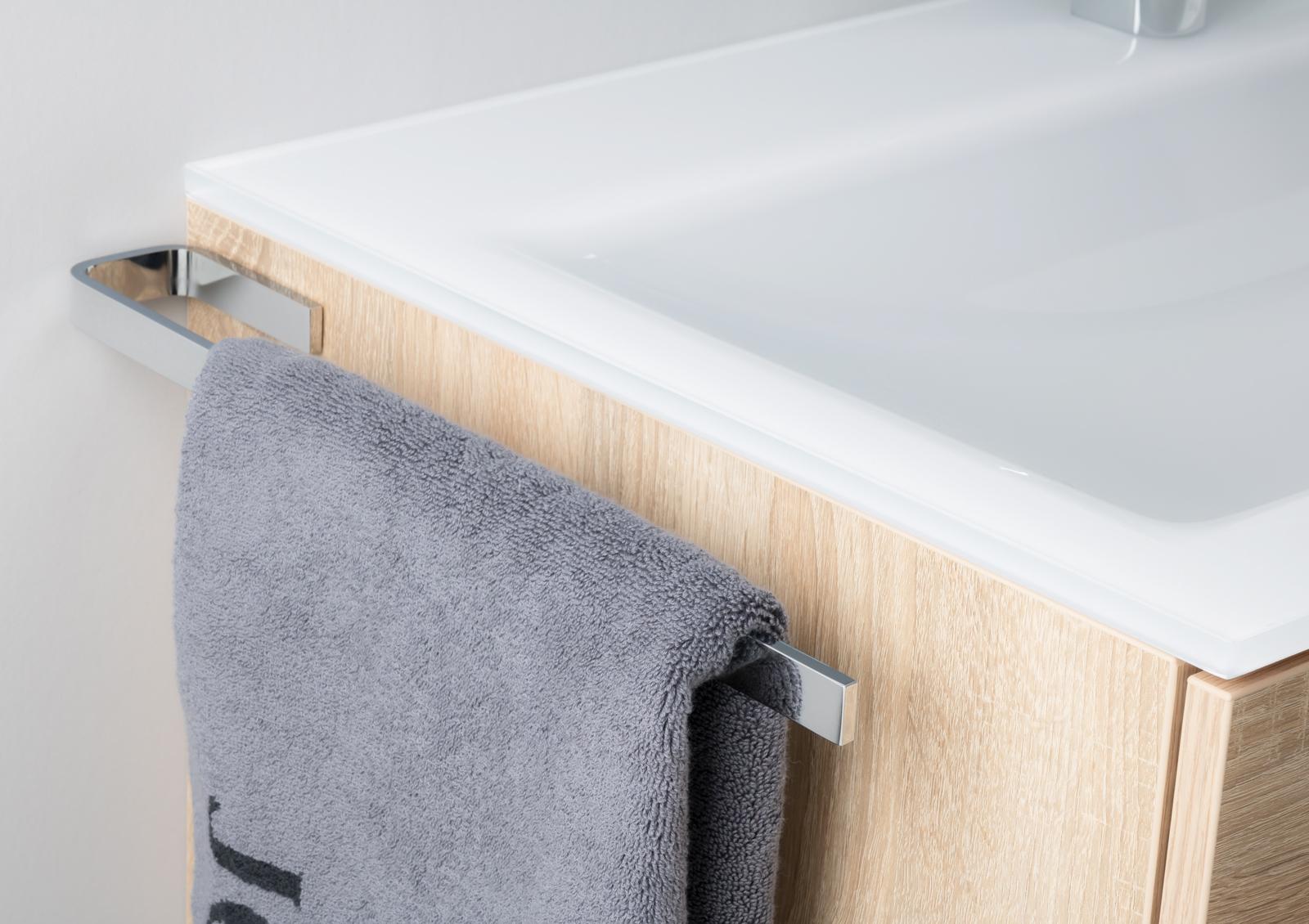handtuchhalter bad chrom design handtuchstange bad accessoires. Black Bedroom Furniture Sets. Home Design Ideas