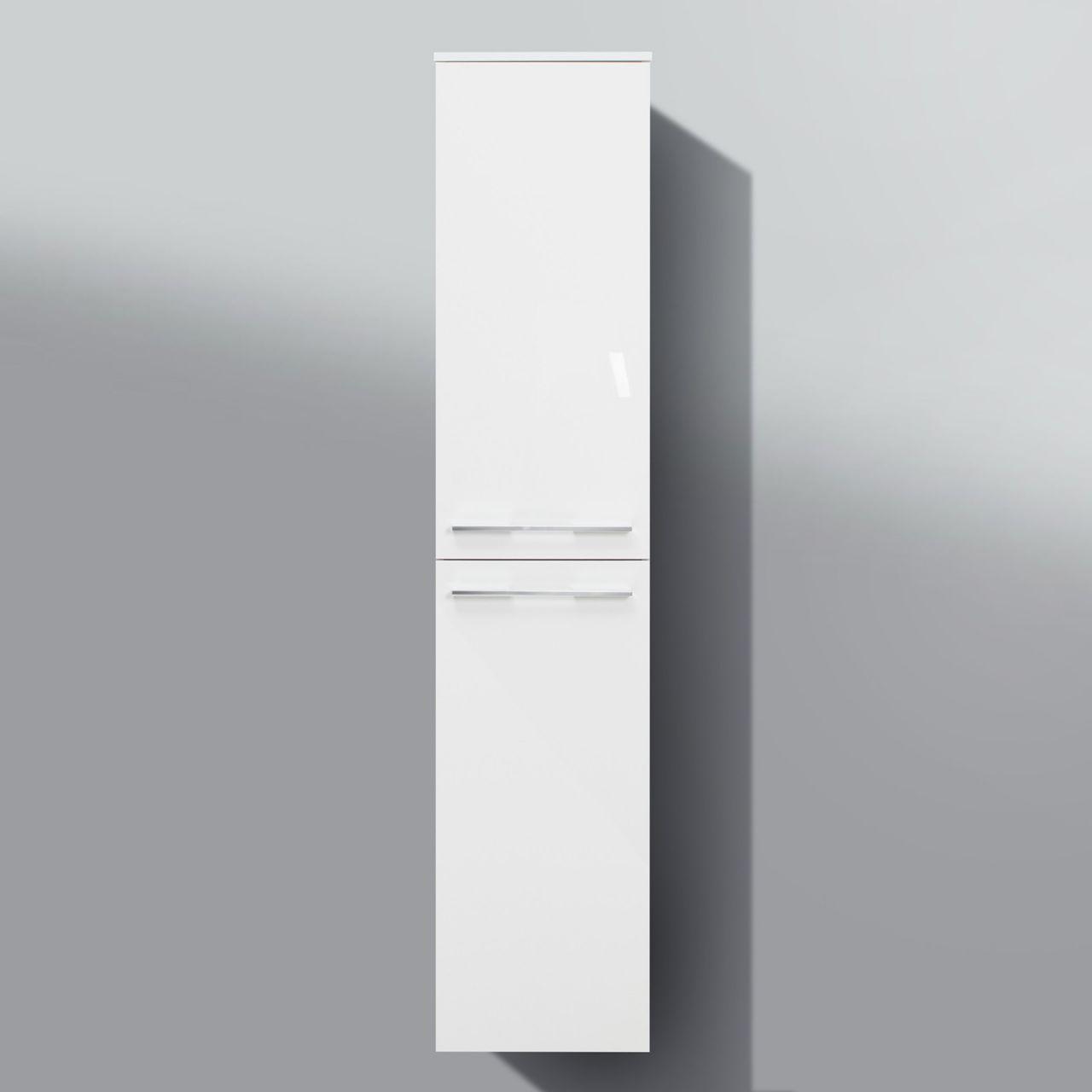 Badmöbel hochschrank  Bad Hochschrank, Seitenschrank H/B/T: 160/35/33cm, weiß hochglanz ...