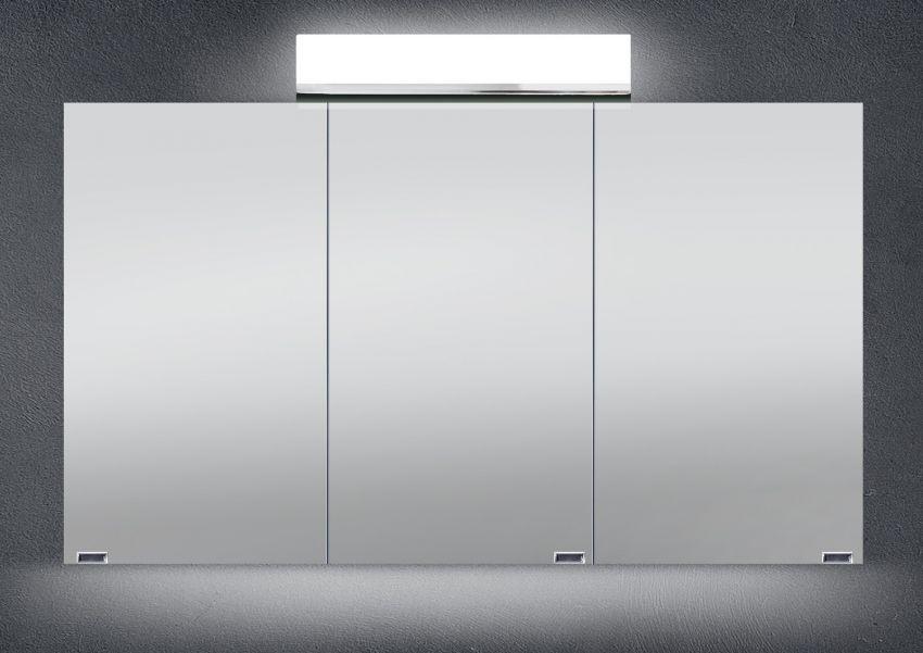 Spiegelschrank Bad 120 Cm Led Beleuchtung Doppelseitig Verspiegelt