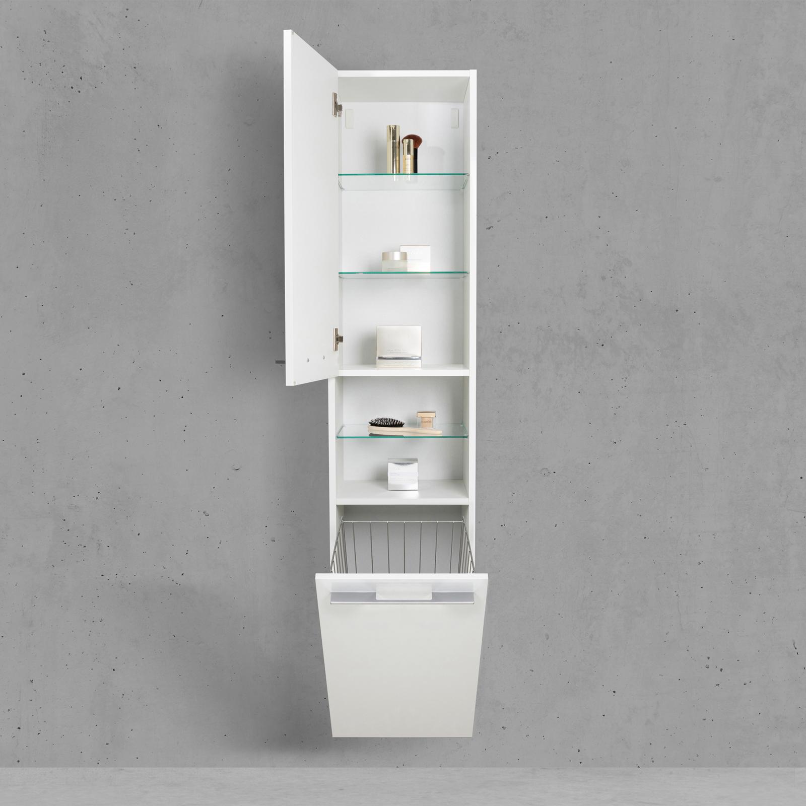 Badschrank Mit Wäschekippe Hochschrank Hbt 176640325cm Weiß
