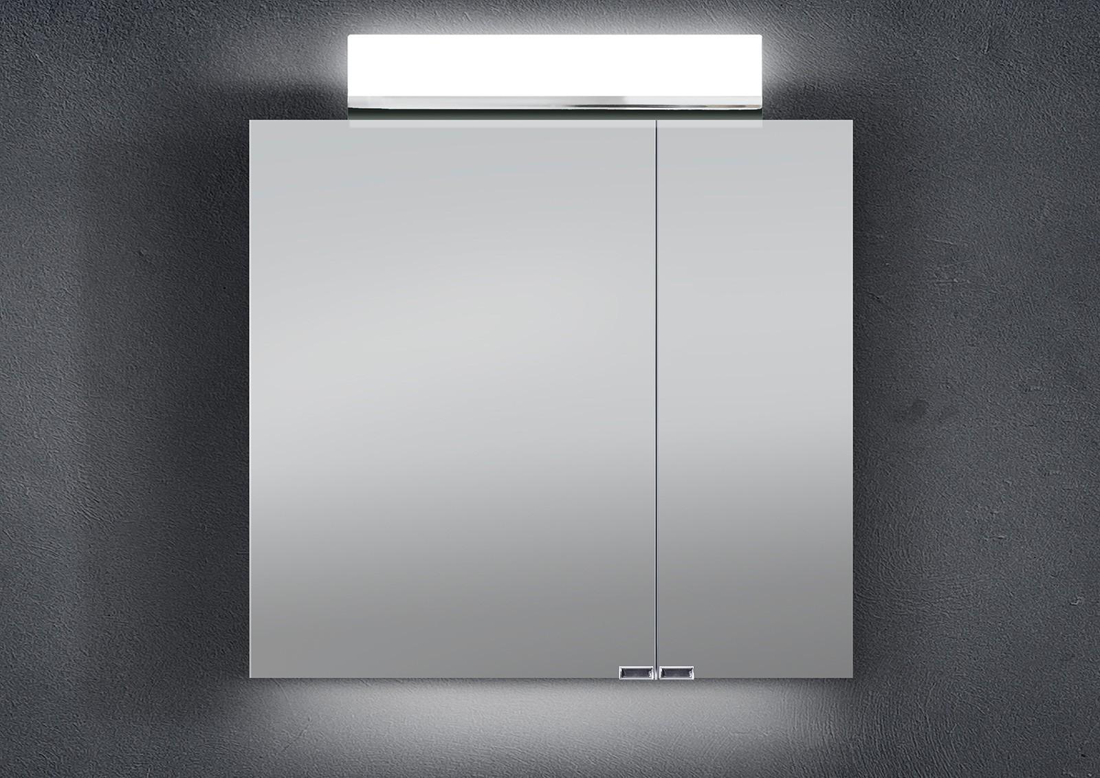 Hervorragend Spiegelschrank 70 cm LED Beleuchtung doppelt verspiegelt  AC64