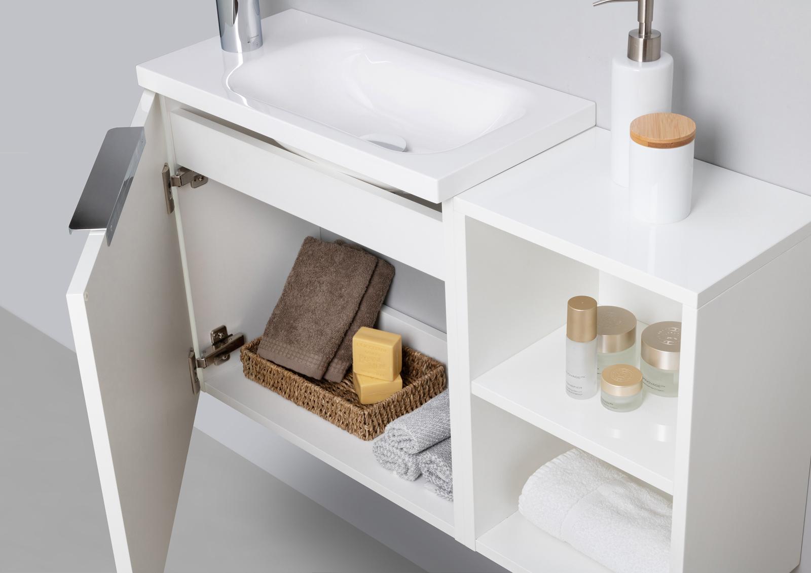 Gäste Wc Badmöbel Set Waschtisch Mit Unterschrank Made In Germany