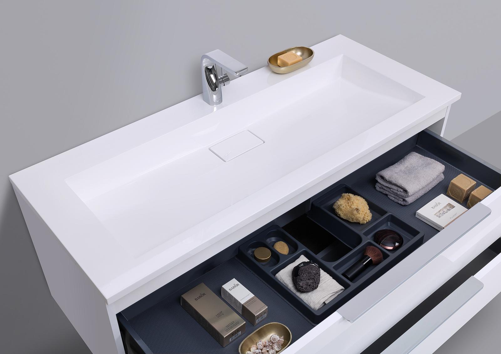 badm bel set cubo 120 cm evermite waschtisch mit led. Black Bedroom Furniture Sets. Home Design Ideas
