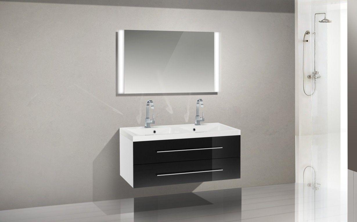 design badm bel set waschbecken 120 cm doppelwaschtisch nussbaum nussbaum b ge ebay. Black Bedroom Furniture Sets. Home Design Ideas