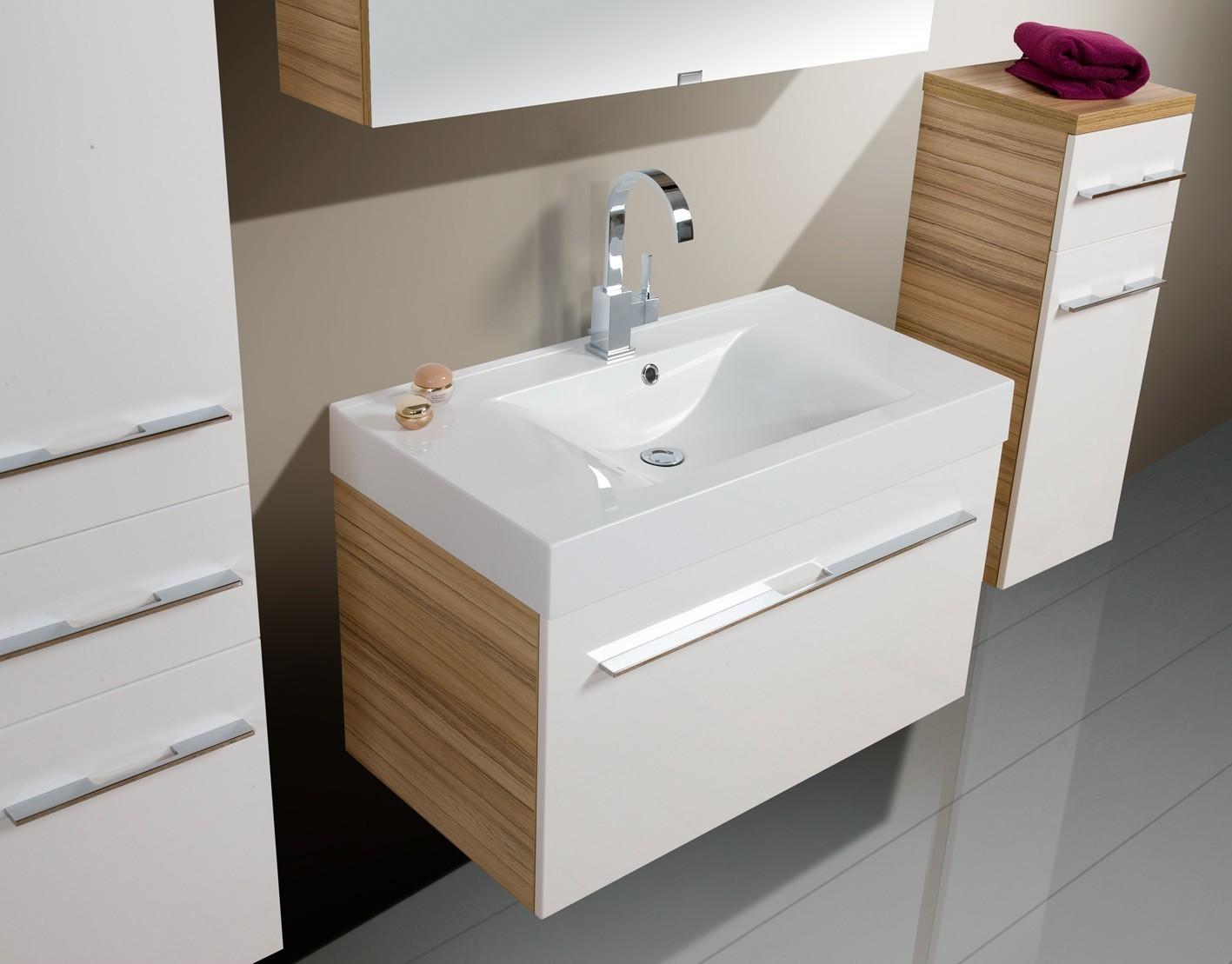 design badm bel set spiegelschrank waschbecken 90 cm. Black Bedroom Furniture Sets. Home Design Ideas