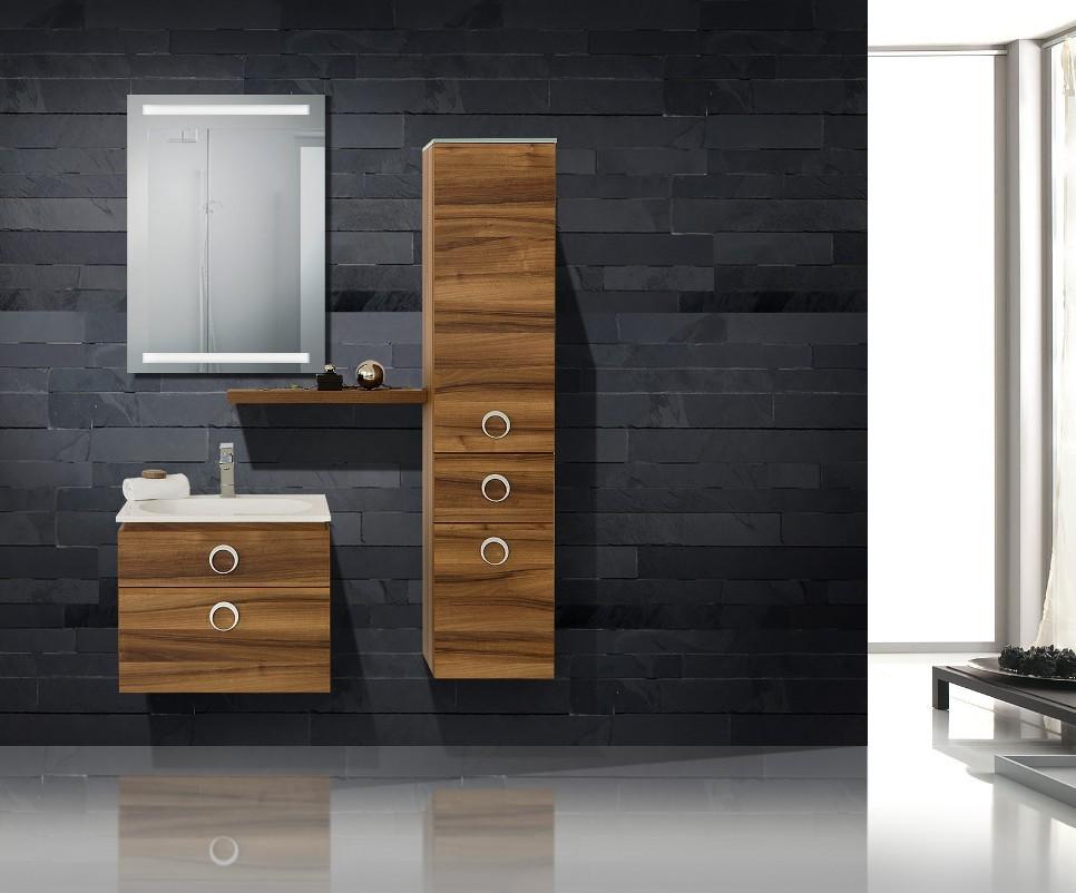 design badm bel set lichtspiegel waschtisch 60 cm. Black Bedroom Furniture Sets. Home Design Ideas