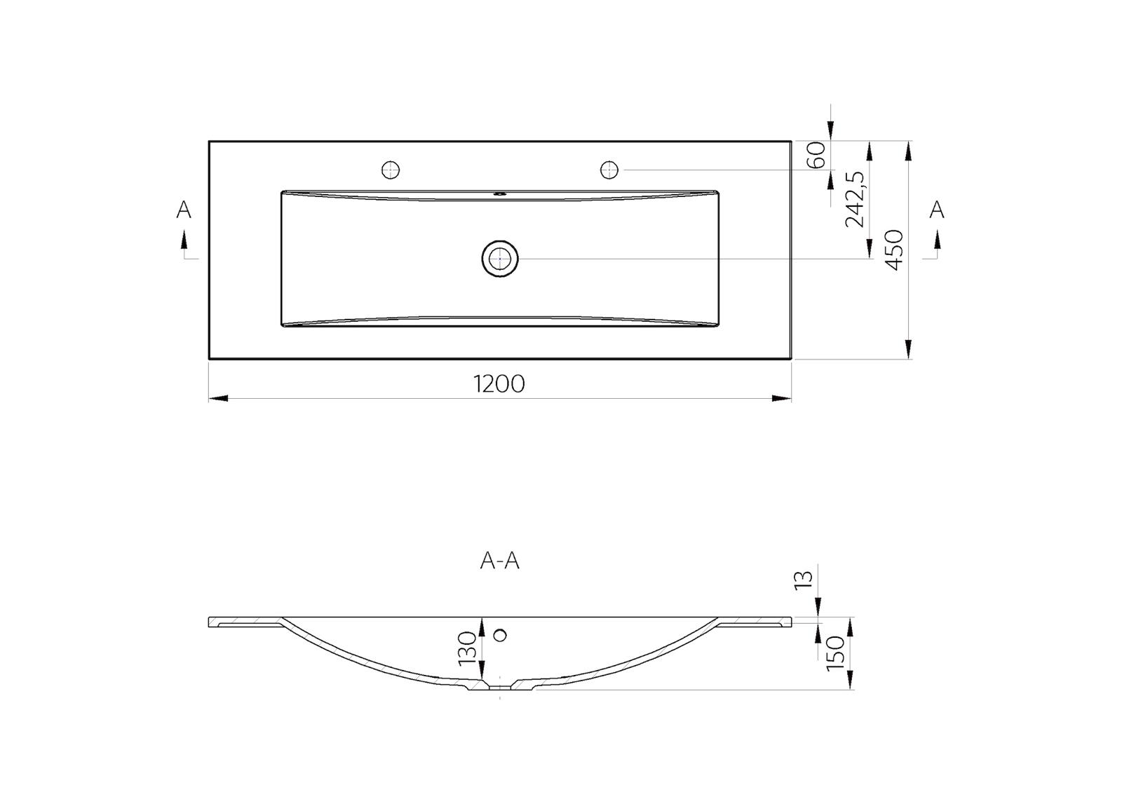 Design badm bel set 120 cm doppelwaschtisch griffleiste for Designer badmobel sale