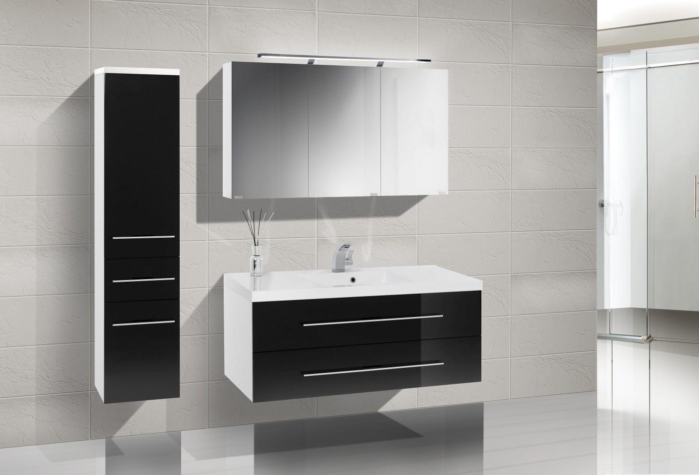 badm bel set waschbecken 120. Black Bedroom Furniture Sets. Home Design Ideas
