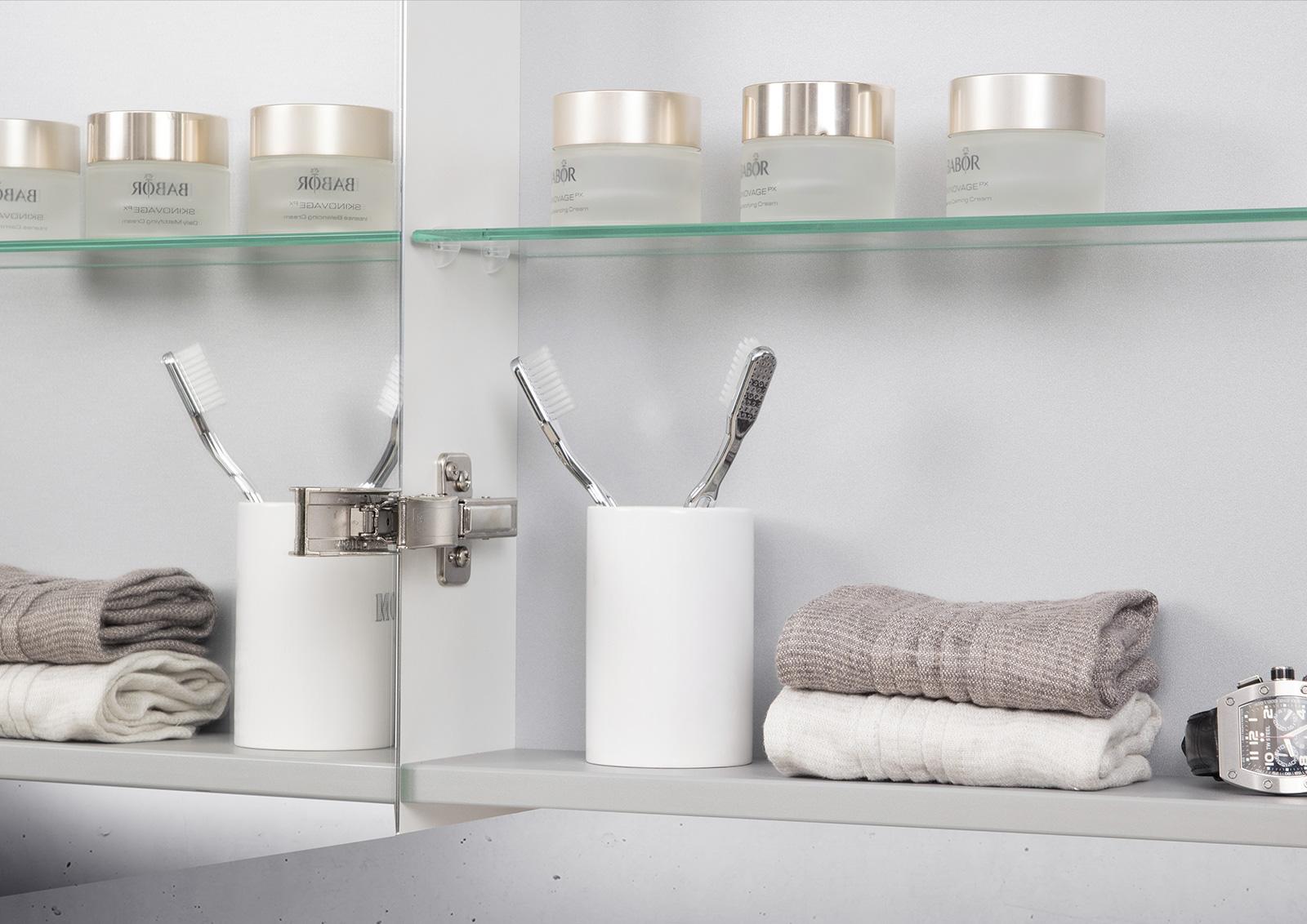 spiegelschrank 150 cm led acryl lichtplatte doppelt. Black Bedroom Furniture Sets. Home Design Ideas