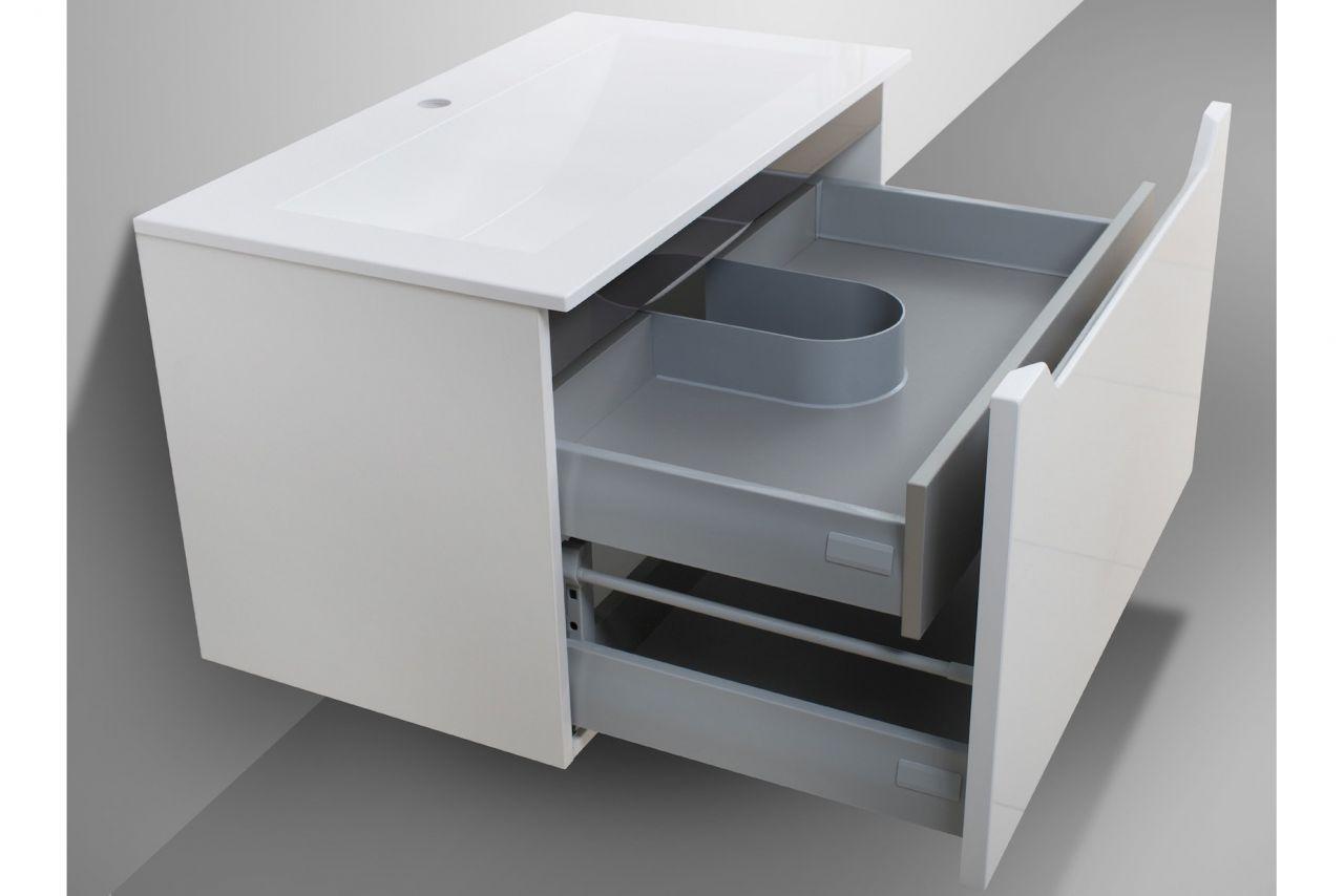 Waschtisch Mit Unterschrank Badmobel Monza 80 Cm Grifflos Intarbad