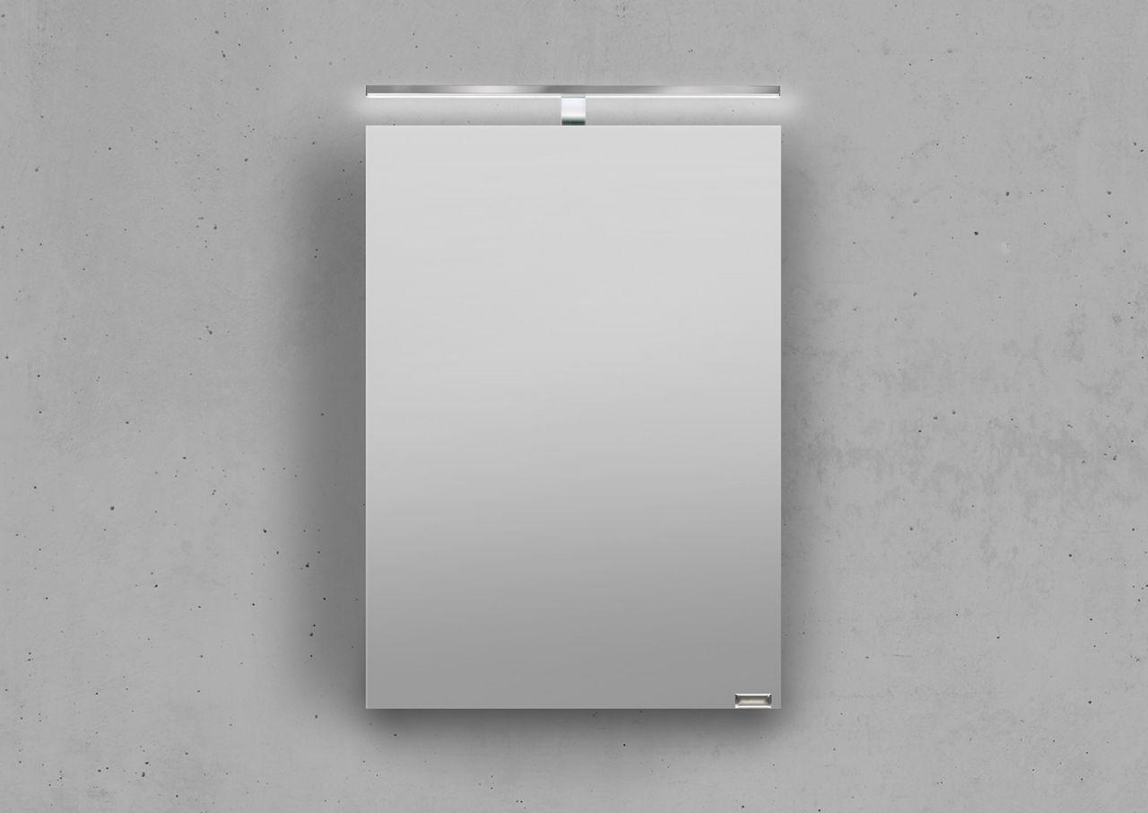 spiegelschrank bad 50 cm led beleuchtung doppelt verspiegelt wei hochglanz la ebay. Black Bedroom Furniture Sets. Home Design Ideas
