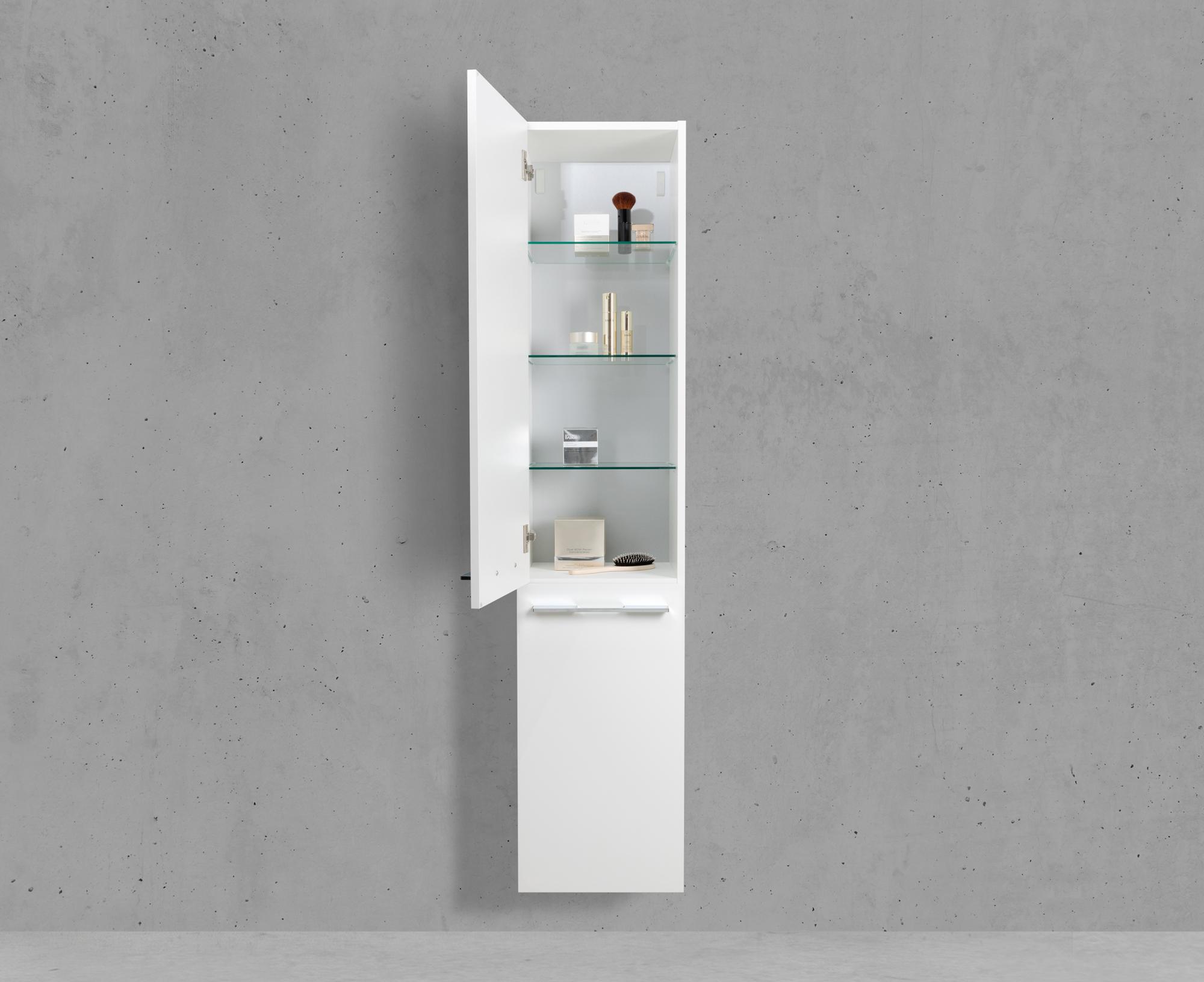 Badschrank Mit Wäschekippe Hochschrank Hbt 16040325cm Weiß