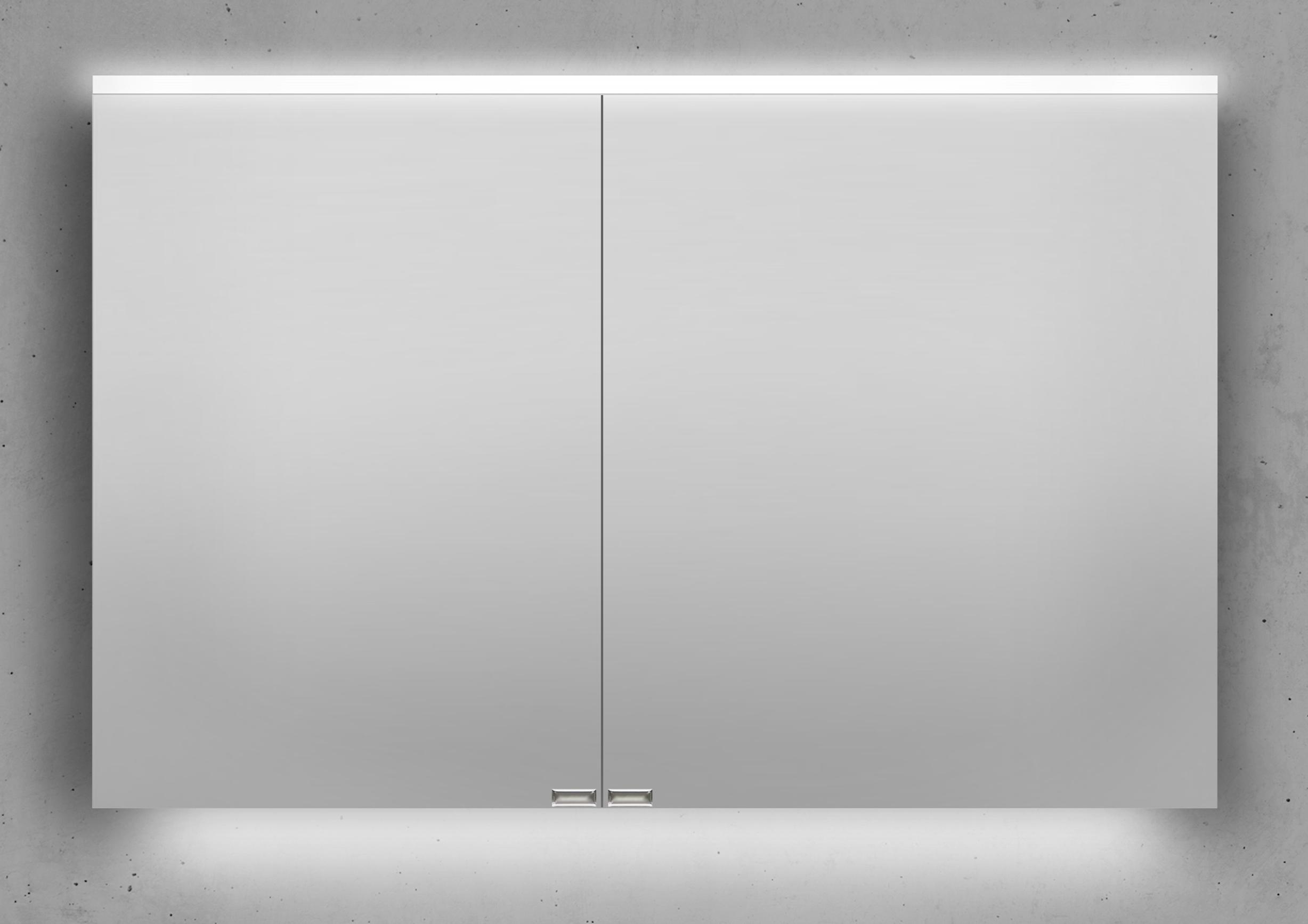 Spiegelschrank 110 cm integrierte led beleuchtung doppelt verspiegelt - Spiegelschrank 110 cm ...