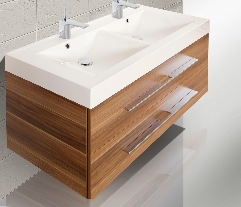badm bel set mit 120 cm doppelwaschtisch und lichtspiegel 585. Black Bedroom Furniture Sets. Home Design Ideas