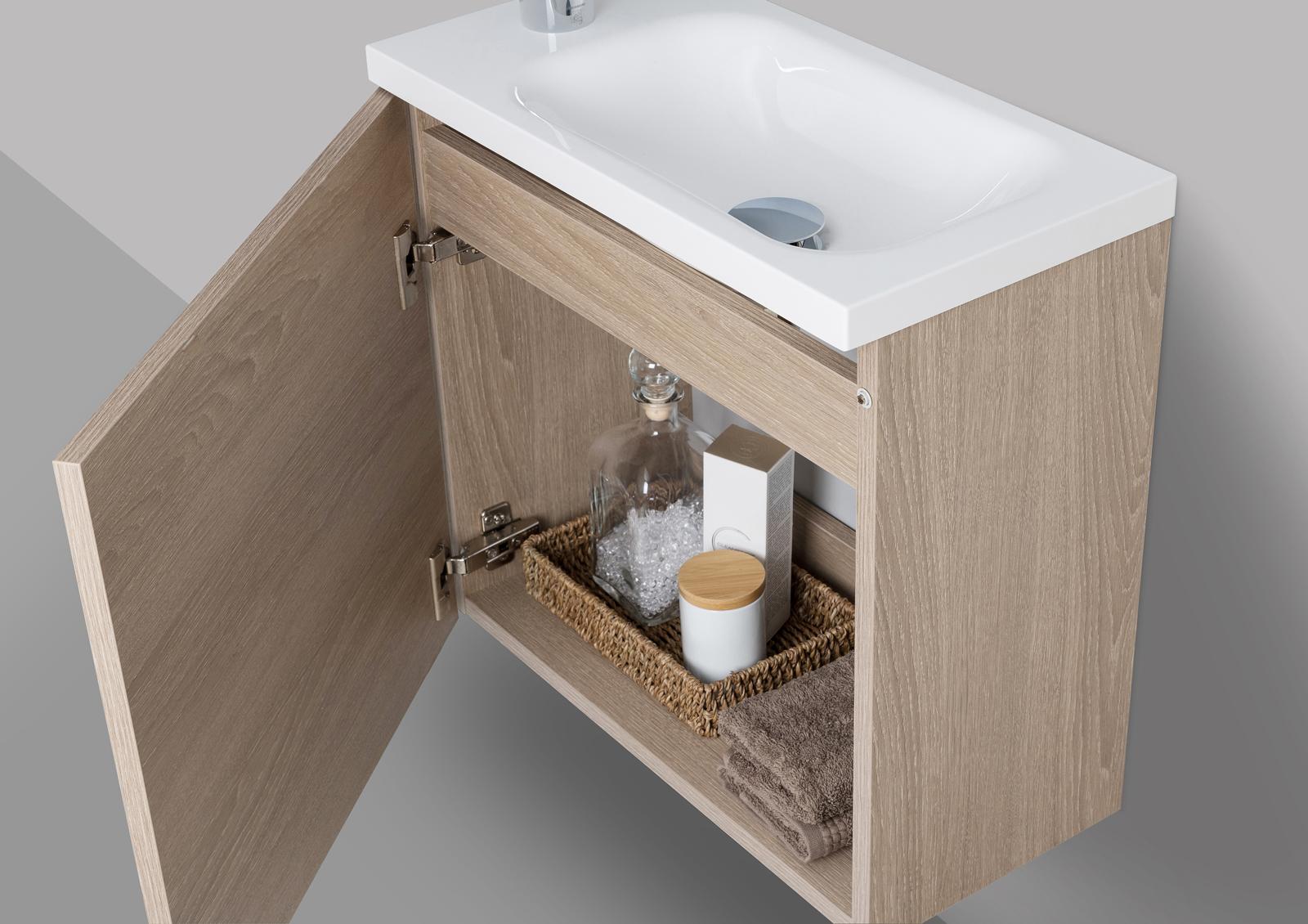 badm bel set rimini g ste wc waschbecken mit led spiegel. Black Bedroom Furniture Sets. Home Design Ideas