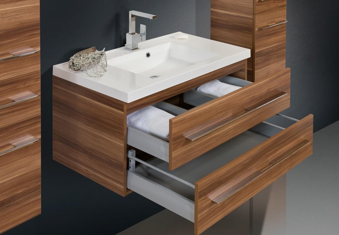 Design badm bel set lichtspiegel waschtisch 90cm - Designer badmobel ...