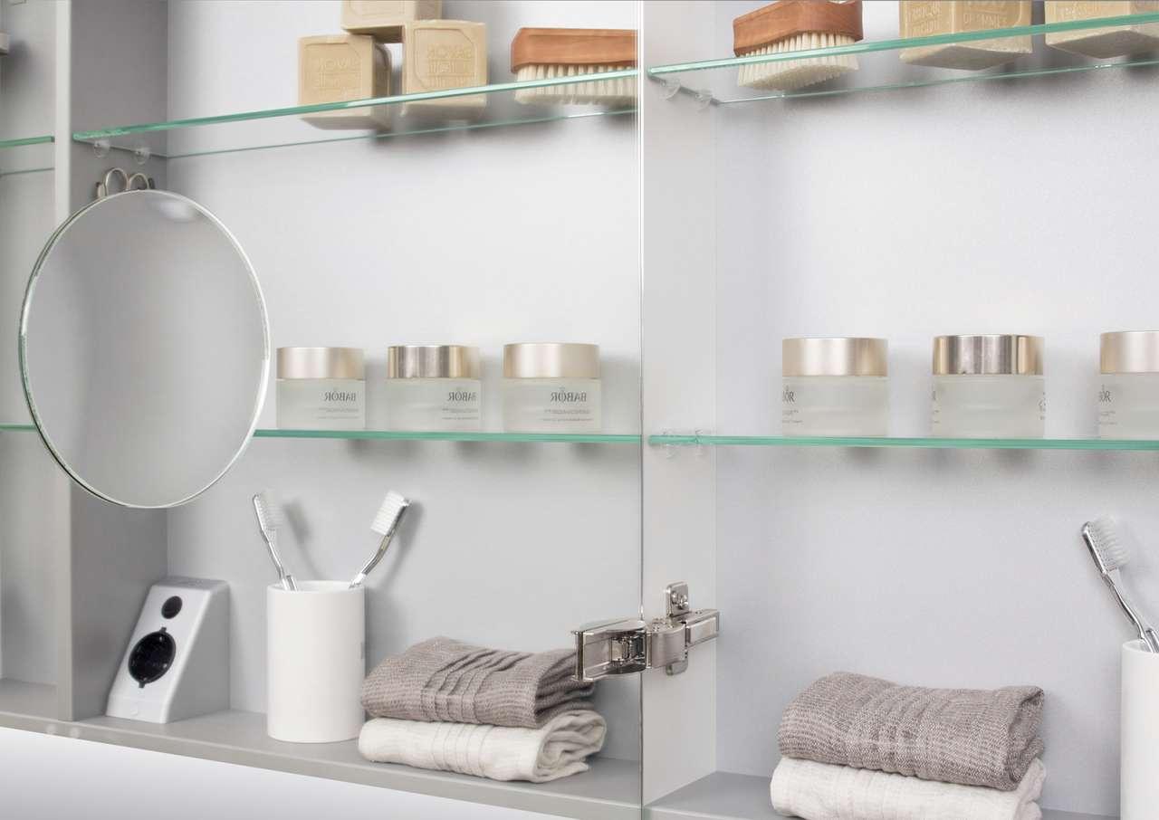 doppelwaschtisch 160 cm badm bel set mit unterschrank spiegelschrank wei hoc ebay. Black Bedroom Furniture Sets. Home Design Ideas
