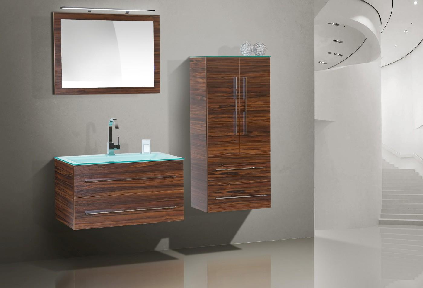 design badm bel set glaswaschtisch 90 cm. Black Bedroom Furniture Sets. Home Design Ideas