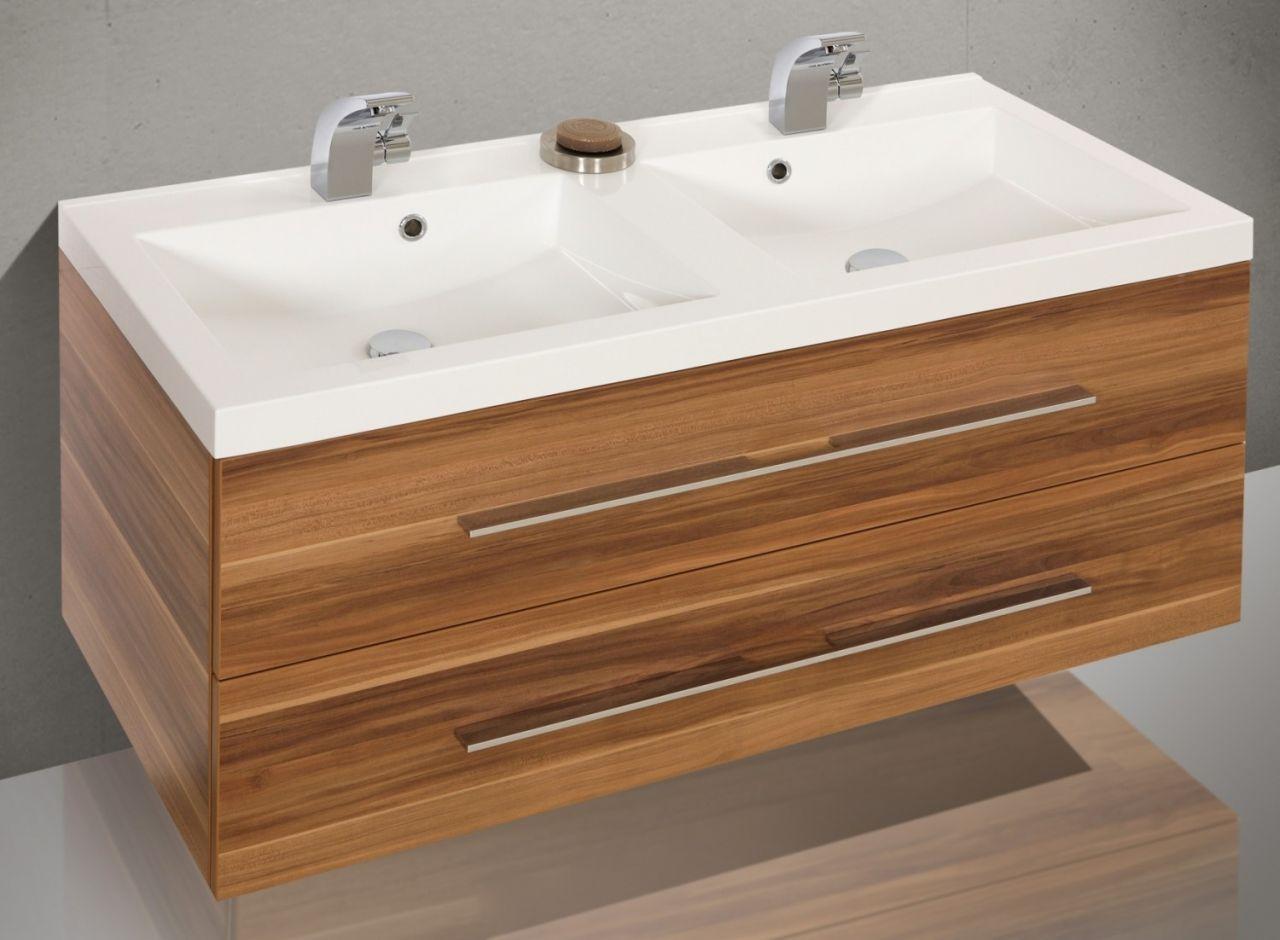 design badm bel set waschbecken doppelwaschtisch 120 cm ebay. Black Bedroom Furniture Sets. Home Design Ideas