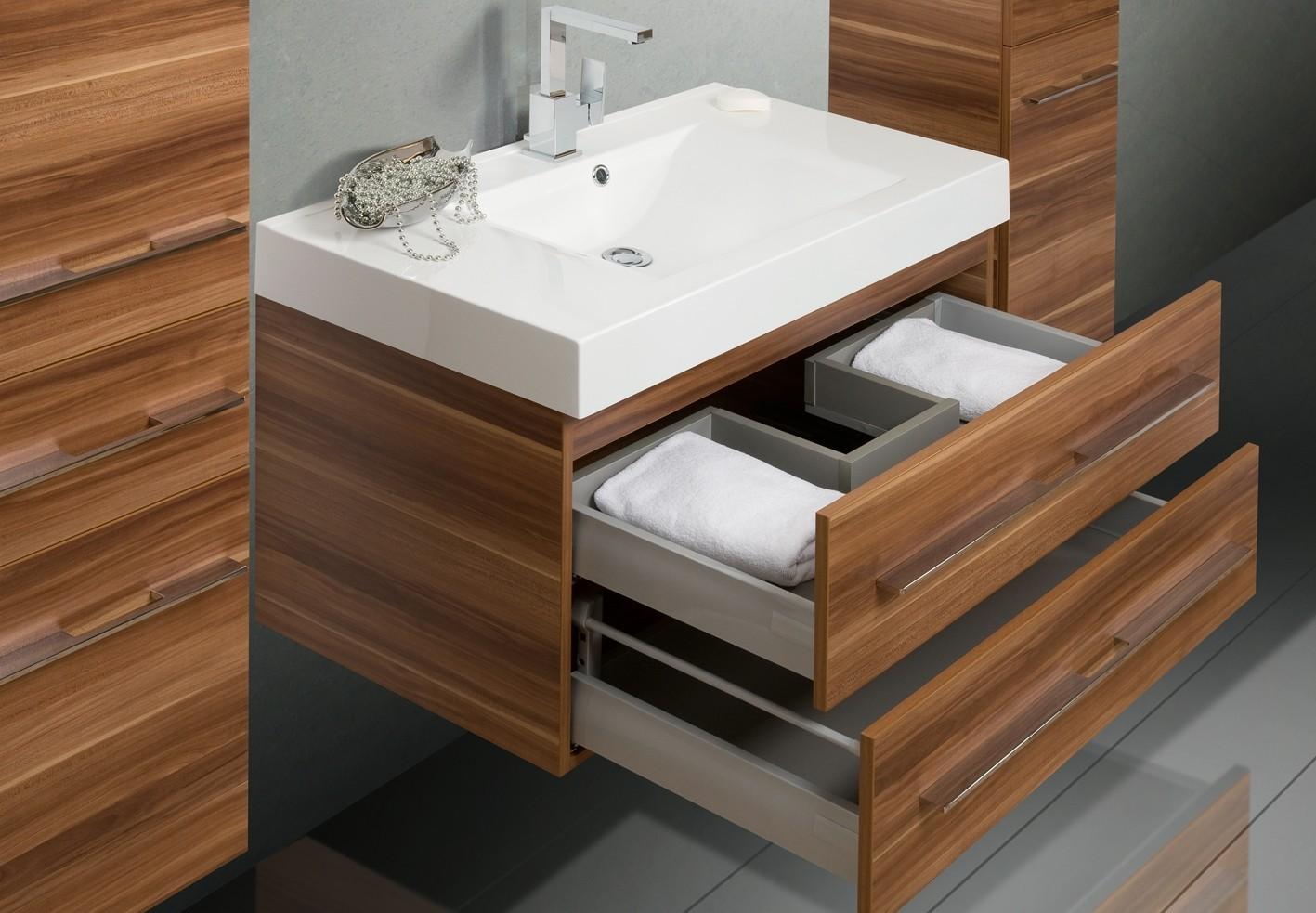 Design badm bel set 90 cm waschtisch lichtspiegel - Designer badmobel ...