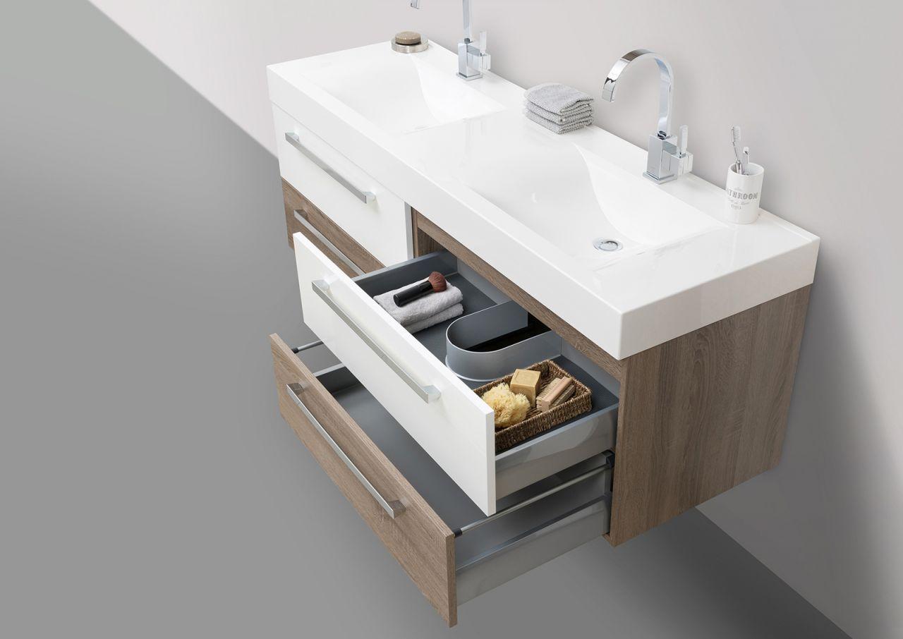 Badmöbel Set Doppelwaschbecken 160 Cm Mit Unterschrank