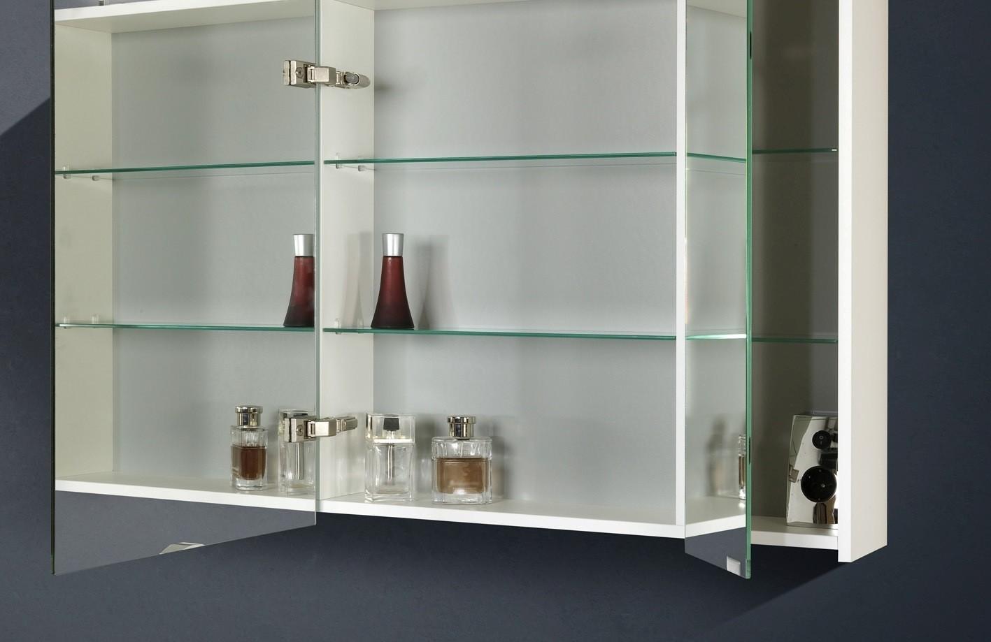 design badm bel set mit spiegelschrank 90 cm. Black Bedroom Furniture Sets. Home Design Ideas