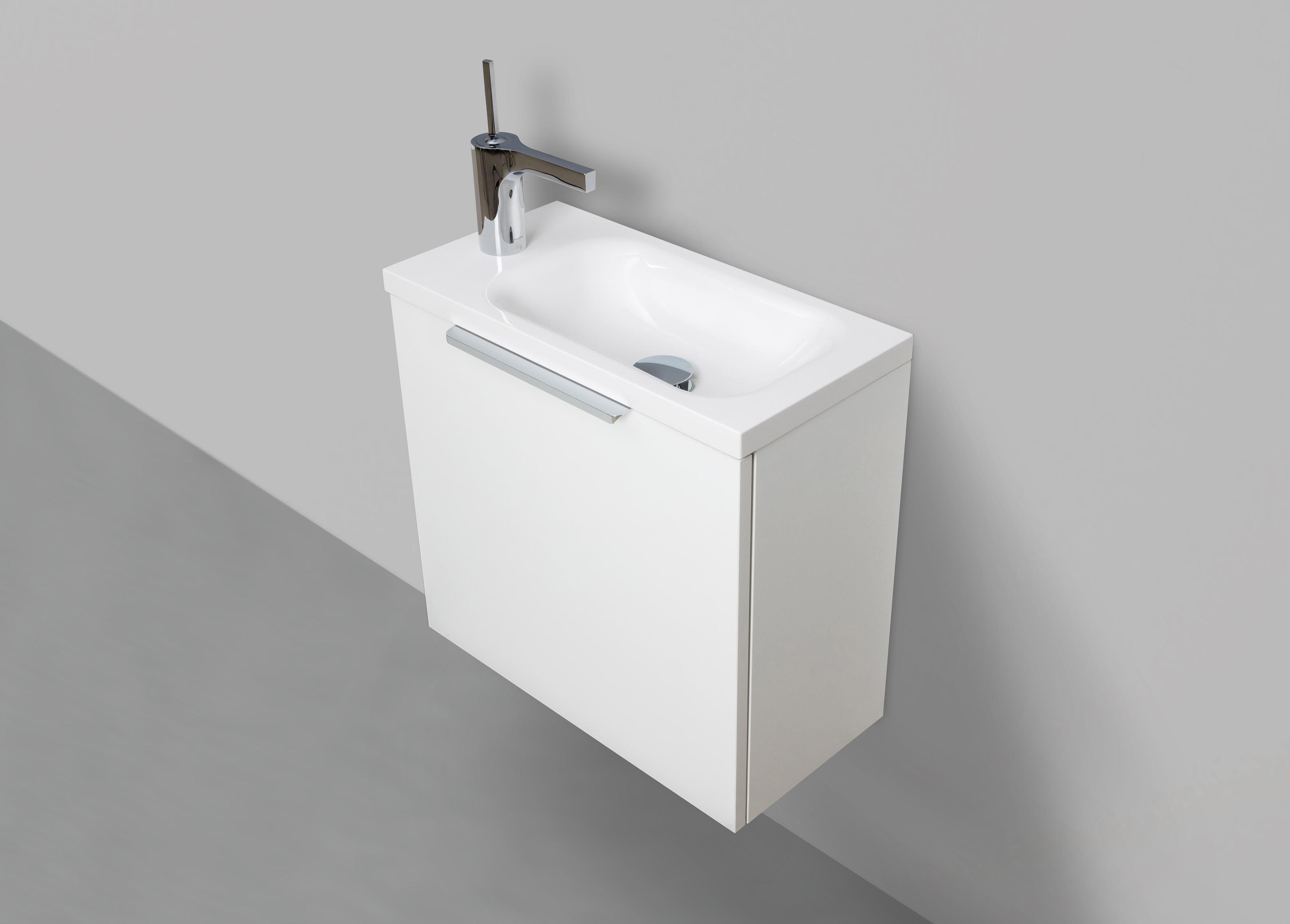 g stebad rimini 50 cm waschtisch mit unterschrank wei hg. Black Bedroom Furniture Sets. Home Design Ideas