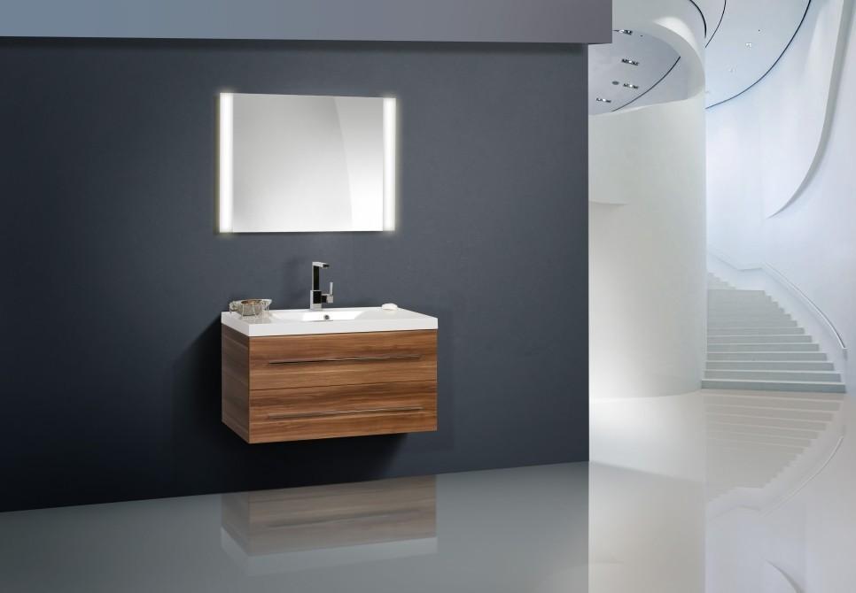 design badm bel set waschbecken lichtspiegel 90 cm. Black Bedroom Furniture Sets. Home Design Ideas