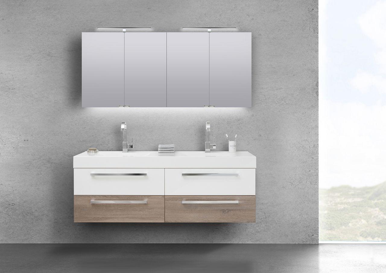badm bel set doppelwaschbecken 160 cm mit unterschrank. Black Bedroom Furniture Sets. Home Design Ideas