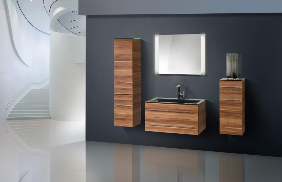 badm bel set mit glaswaschtisch 90 cm 355. Black Bedroom Furniture Sets. Home Design Ideas