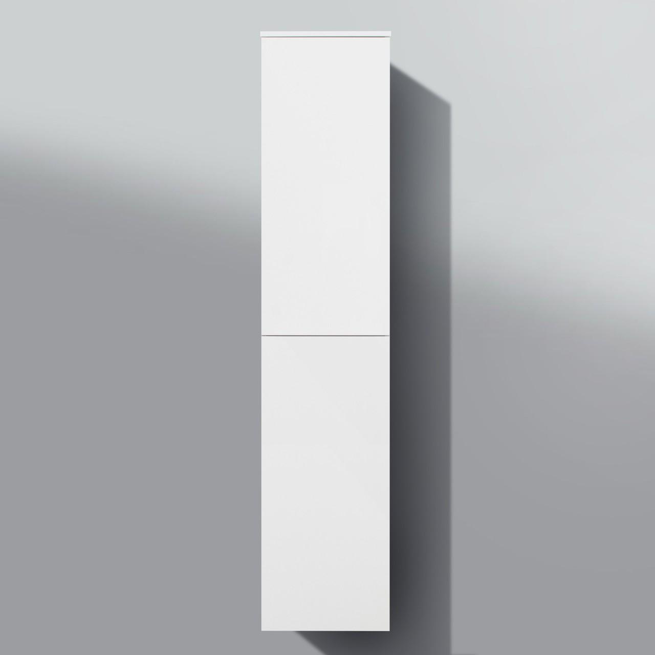 Bad Hochschrank, Seitenschrank Grifflos H/B/T: 161,6/35/32,5cm, weiß ...