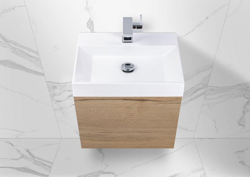 Gäste Waschtisch Set Intarbad Bella.Mini, Unterschrank mit Waschtisch 50x36 cm